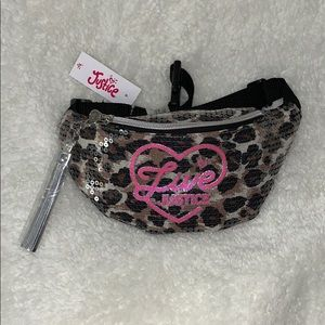 Justice | leopard sequin fanny pack
